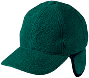6 Panel Fleece Cap with ear fl