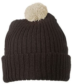 Knitted Cap with pompom